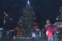 Vánoční strom v Záhoří.