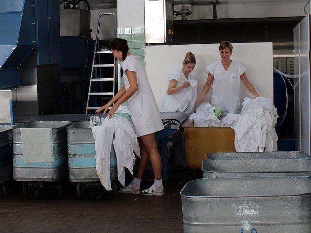 Prádelna písecké nemocnice.