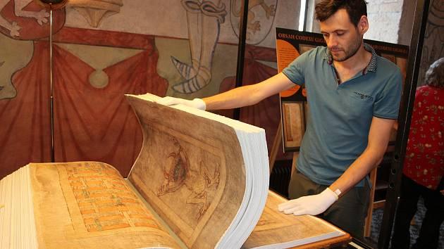 Codex Gigas v Prácheňském muzeu v Písku.