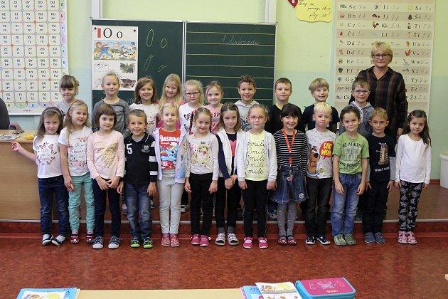 Prvňáčci ze třídy 1.C Základní školy E. Beneše vPísku.