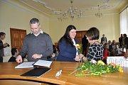 Vítání nových občánků v obřadní síni radnice 9. října.