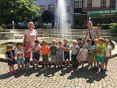 Děti na výletě v Písku.