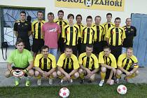 Fotbalisté Sokola Záhoří B obsadili v minulé sezoně okresní III. třídy sedmé místo, když získali osmadvacet bodů.