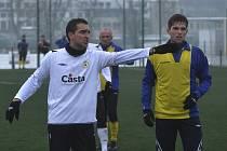 Michal Polodna (na snímku) dirigoval hru píseckého týmu v prvním poločase přípravného utkání s Benešovem, které mužstvo od Otavy vyhrálo 2:0.