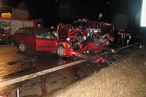 Následky dopravní nehody u Čimelic jsou tragické.