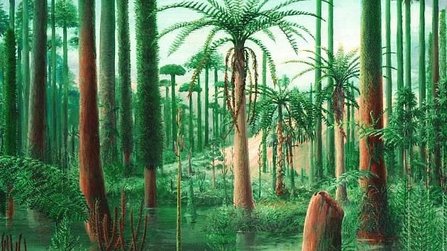 Prales karbon. Z výstavy v Prácheňském muzeu v Písku.