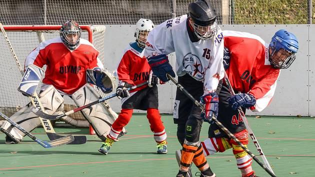Mladí hokejbalisté v extraligách rozehráli jaro (ilustrační foto).