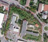 Lokalita, které se týká zpracovaná studie okolí nemocnice.