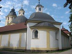 Poutní barokní kostel Panny Marie v Sepekově.