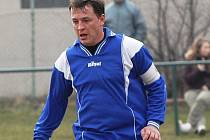 Čížovský Marijan Miklavčič (na snímku) vstřelil dva úvodní góly svého týmu a na třetí přihrál Jindřichovi. V utkání fotbalového KP: Čkyně - Čížová 1:3.