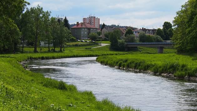 Řeka Otava.