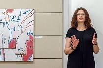 Vernisáž výstavy Biologie víry restaurátorky a malířky Ivy Petrové.