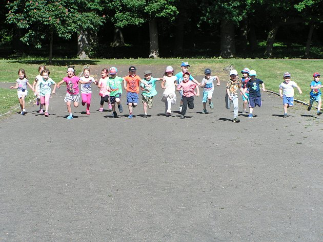 Dětská olympiáda v Čimelicích.
