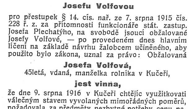 """Žena z Kučeře požadovala za vejce """"cenu přespřílišnou""""."""