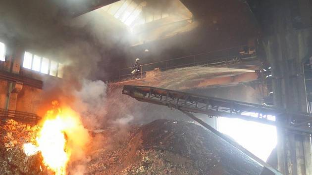 Požár v Ražicích.