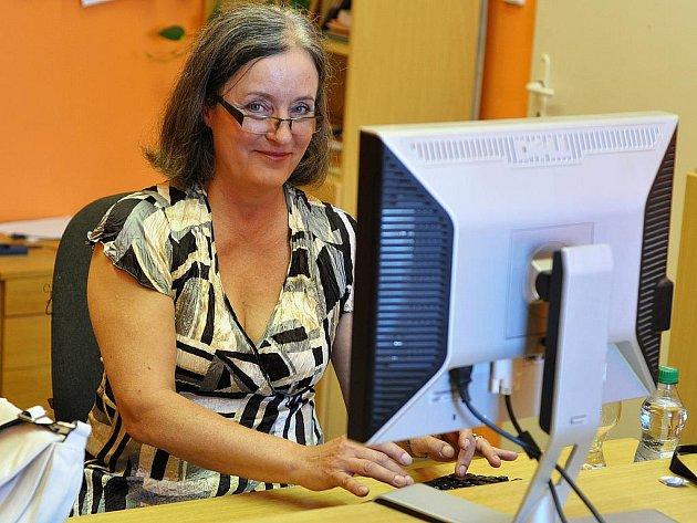 Renata Skronská při online rozhovoru se čtenáři Píseckého deníku.