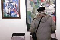 Vernisáž výstavy Dalibora Říhánka.