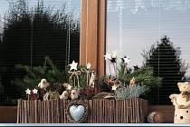 Vánoční výzdoba okna - Alena a Tomáš Fučíkovi.