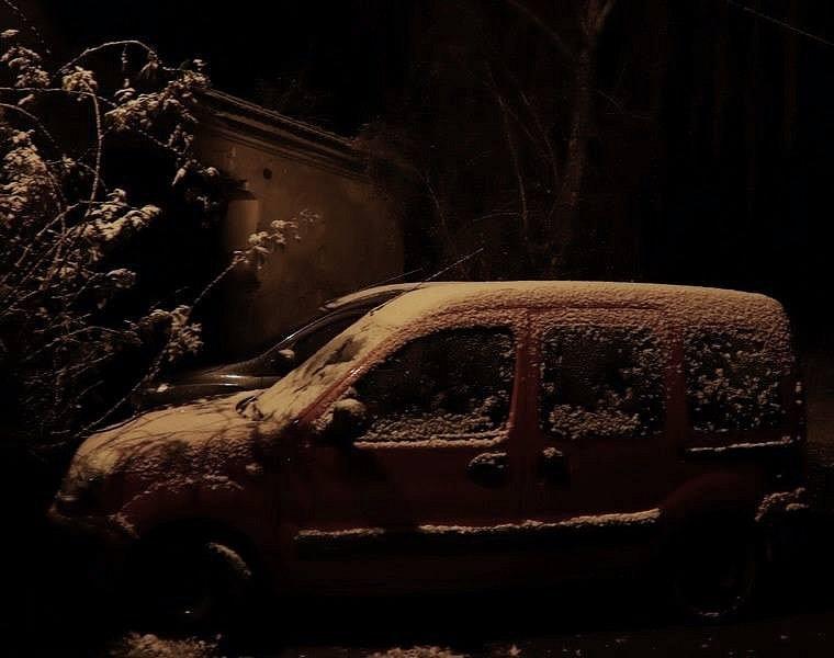 První sníh. Pohorovice.