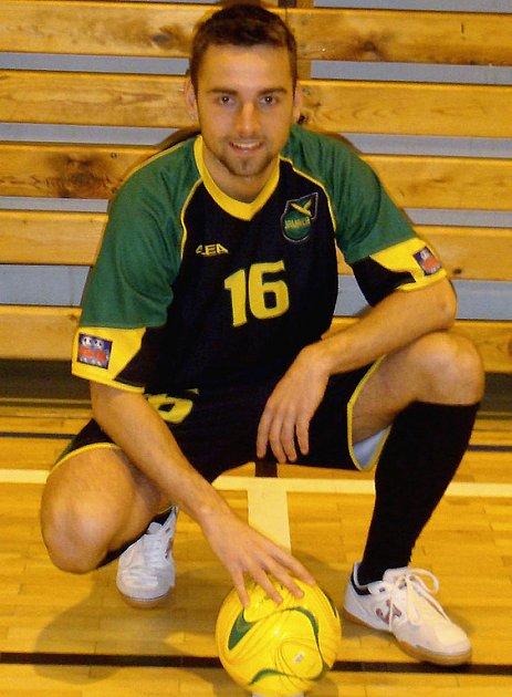 STŘELEC. Na snímku je protivínský Jan Hornát, autor tří branek v zápase proti českobudějovickému Gongu.