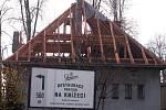 Vyhořelá vila v Čimelicích.