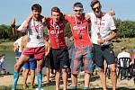 MISTŘI SVĚTA V KVADRIATLONU. Na snímku zleva Michal Háša, Tomáš Novoveský, Jaroslav Šitner a Jiří Csirik.