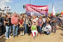 Demonstrace proti Babišovi se na Letné zúčastnili také lidé z Milevska a Kovářovska.