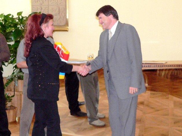 Starosta Písku a členka delegace L. I. Chabibulina