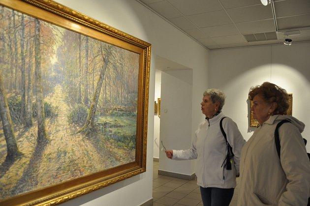 Výstava Slavnost krajinomalby v Prácheňském muzeu v Písku.