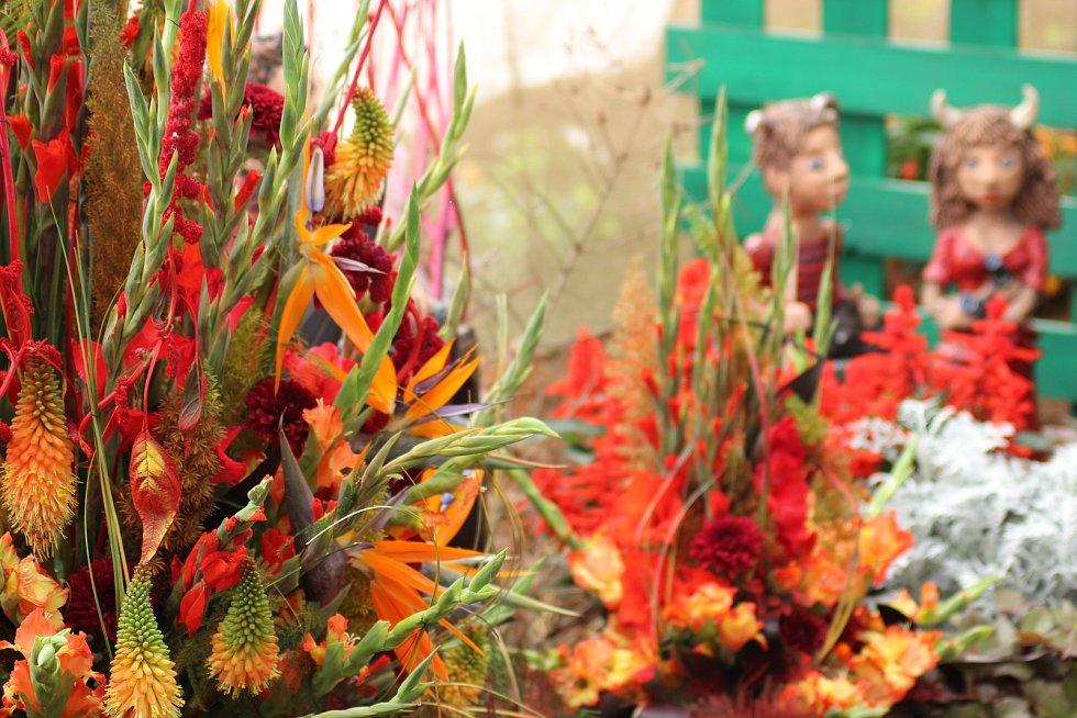 Květinová výstava v Čimelicích.