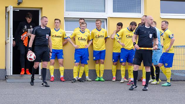 Fotbalisté Písku před závěrečným utkáním sezony 2018/2019.