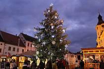 Vánoční strom v Písku.