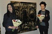 Vernisáž výstavy Blanky Dvořákové a její dcery Mary.