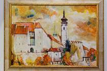 Vernisáž výstavy díla Jana Sýkory v Malé galerii Sladovny.