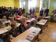 Začátek školního roku v Bernarticích.