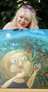 KRAJINY MÉHO DĚTSTVÍ. Píseckou Sladovnu na pět týdnů vyzdobí svými obrazy akademická malířka Renata Štolbová.