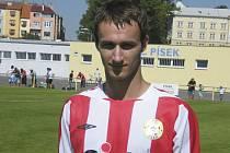 Útočník Martin Voráček (na snímku) vstřelil jednu z branek mužstva FC Písek, které v zápase minulého kola fotbalové divize zvítězilo nad Doubravkou vysoko 5:0.