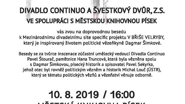 Beseda připomene nejen Dagmar Šimkovou, ale i další politické vězně.