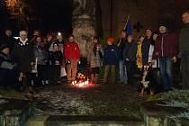 Vzpomínková akce na Jana Palacha v Milevsku.