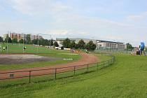 Milevský letní stadion.