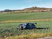 Dopravní nehoda u obce Zlivice.