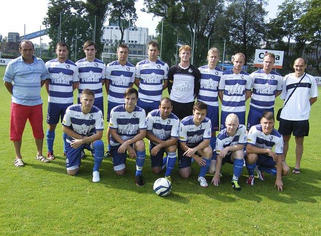 Fotbalisté FK Protivín (na snímku) zvítězili v domácím zápase krajské I. A třídy nad Dolním Bukovskem vysoko 6:2.