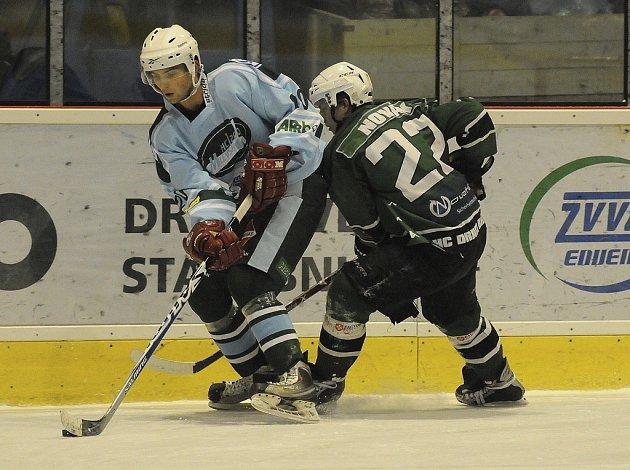 O víkendu pokračuje 2. hokejová liga dalším kolem. Tým HC Milevsko 2010 přivítá v sobotu na svém ledě pražskou Kobru.Snímek je z nedávného zápasu Milevsko 2010 - Bílina.