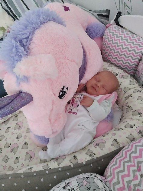 Malá Amálka se narodila 13.října vpísecké porodnici.