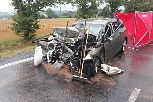 Tragická nedělní nehoda nedaleko Hrejkovic na Písecku.
