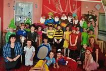 Děti ze žluté třídy 15. mateřské školy v Erbenově ulici v Písku.