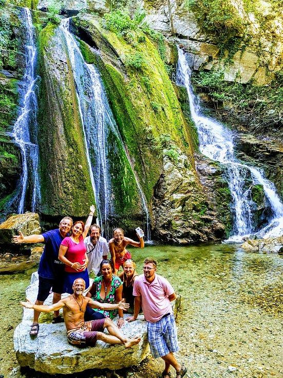 Řecké vodopády.