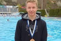 Písecký plavec Kristián Svoboda