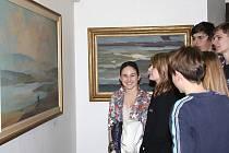 Výstavu Jihočeská krajina si v Prácheňském muzeu v Písku prohlédli také studenti 1. B Gymnázia Písek.