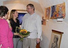 Ze zahájení výstavy v milevské Galerii M